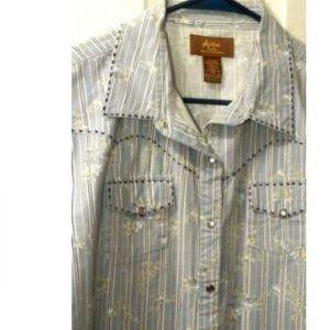 Wrangler Blues / Aura Pearl Snap Western Shirts XL